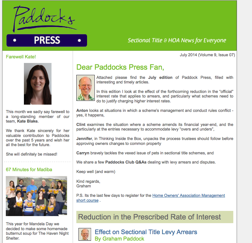 Paddocks Press June 2014