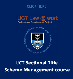 UCT Sectional Title Scheme Management course