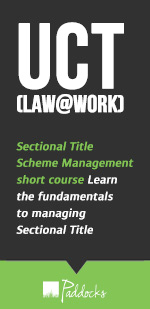 UCT (Law@Work) Sectional Title Scheme Management short course