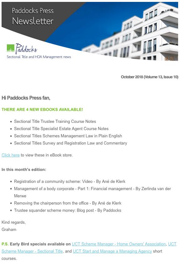 Paddocks Press, October 2018