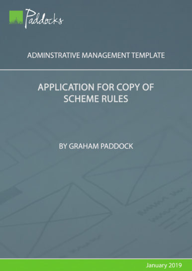 Application for copy of scheme rules by Graham Paddock