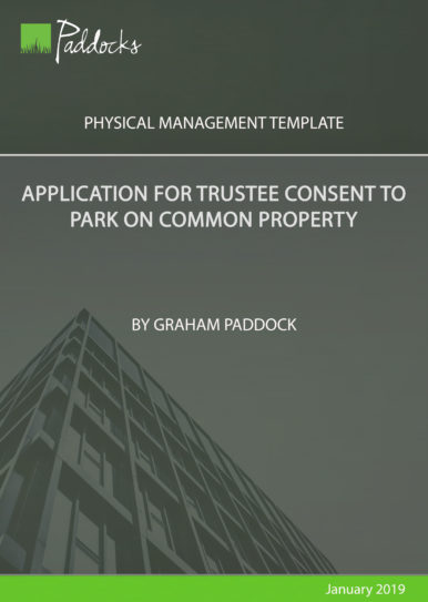 Application for trustee consent to park on common property - by Graham Paddock