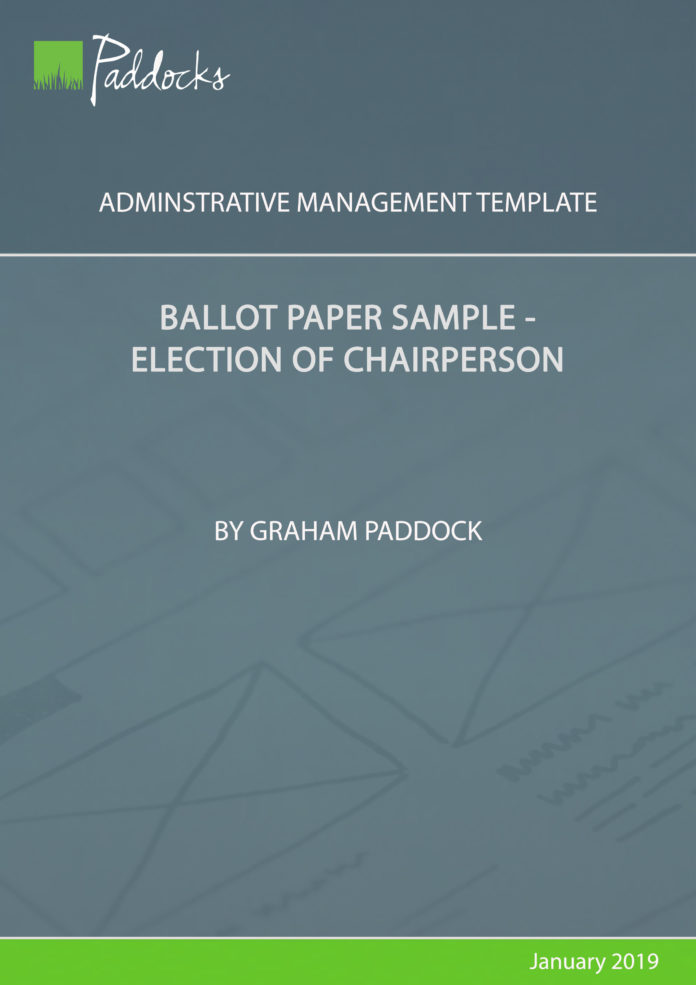 Ballot paper sample_election of chairperson