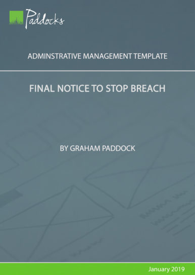 Final Notice to stop breach - by Graham Paddock