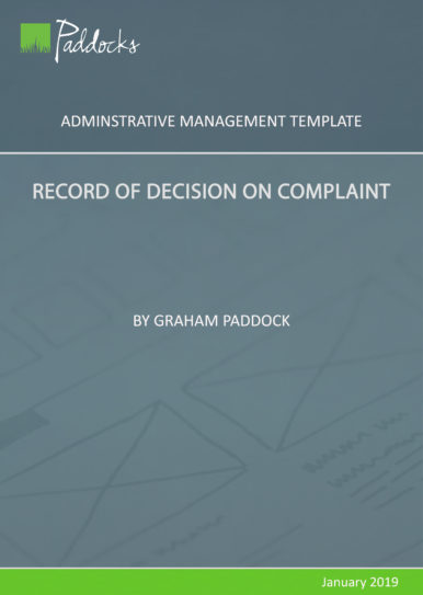Record of Decision on Complaint - template by Graham Paddock