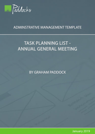 Task planning list_annual general meeting